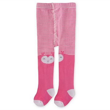 Baby Girl Carter's Pink Owl Tights