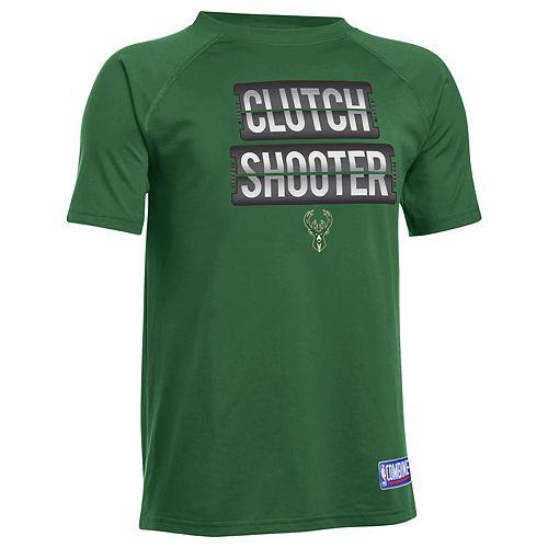 Boys 8-20 Under Armour Milwaukee Bucks Clutch Shooter Tee