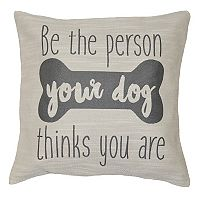 Spencer Home Decor ''Dog Person'' Jacquard Throw Pillow