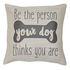 Spencer Home Decor ''Dog Person'' Jacquard Throw Pillow