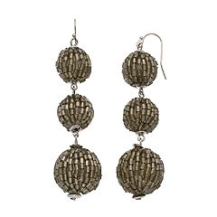 Tube Bead Crispin Drop Earrings