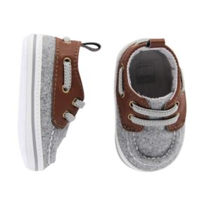 Baby Boy Carter's Wool Boat Crib Shoes