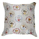 Spencer Home Decor Kennel Club Jacquard Throw Pillow