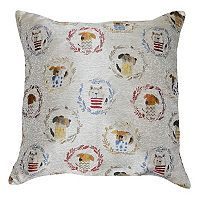 Spencer Home Decor Kennel Club Jacquard Throw Pillow