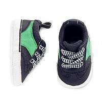 Baby Boy Carter's Navy Lace Up Sneaker Crib Shoes