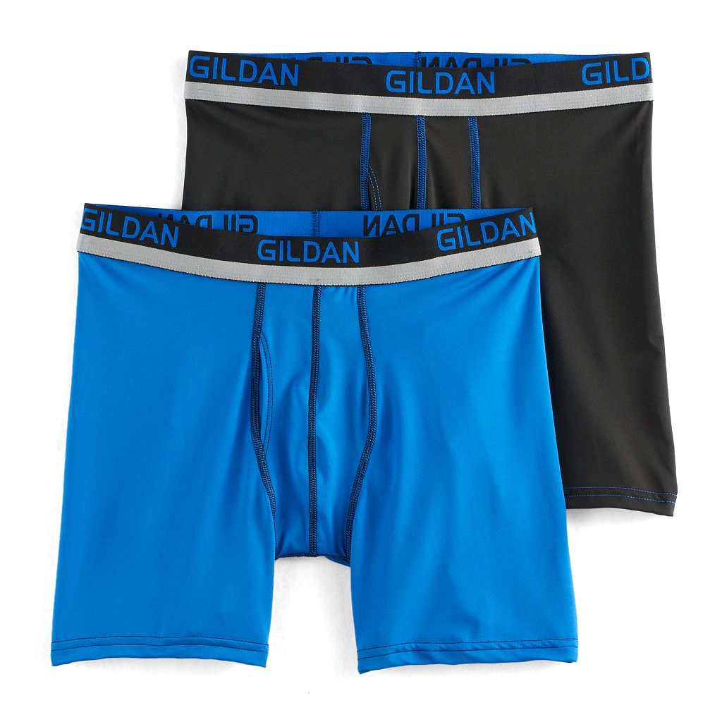 Men's Gildan 2-pack PolyStretch Boxer Briefs