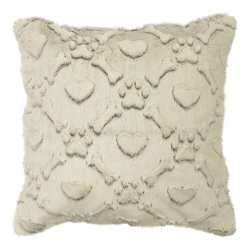 Spencer Home Decor Max Faux Fur Throw Pillow