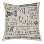 Spencer Home Decor ''Pet Rules'' Jacquard Throw Pillow