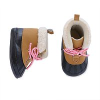Baby Girl Carter's Duck Boot Crib Shoes