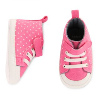 Baby Girl Carter's High Top Dotted Crib Shoes