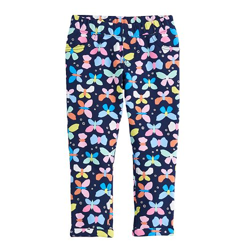 Girls 4-10 Jumping Beans® Butterfly Pieced Cuff Jeggings