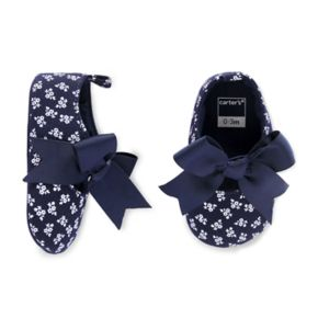 Baby Girl Carter's Bow Floral Mary Jane Crib Shoes