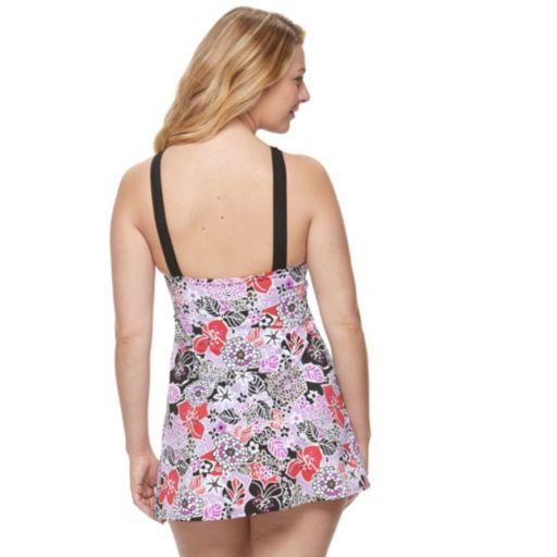 Women's A Shore Fit Hip Minimizer High-Neck Swimdress