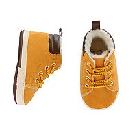 Baby Boy Carter's Tan High-Top Work Boot Crib Shoes