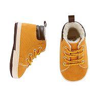 Baby Boy Carter's Tan High-Top Work Boot Crib Shoes