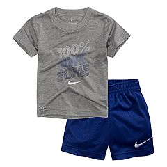 Toddler Boy Nike '100% Awesome' Graphic Tee & Mesh Shorts Set