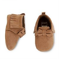 Baby Girl Carter's Brown Bow Moccasin Crib Shoes