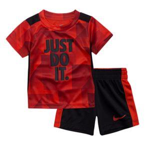 """Toddler Boy Nike """"Just Do It"""" Tee & Shorts Set"""