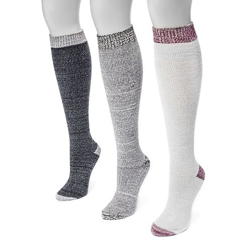 Women's MUK LUKS 3-pk. Microfiber Knee High Socks
