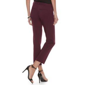 Women's ELLE™ Solid Slim Ankle Pants