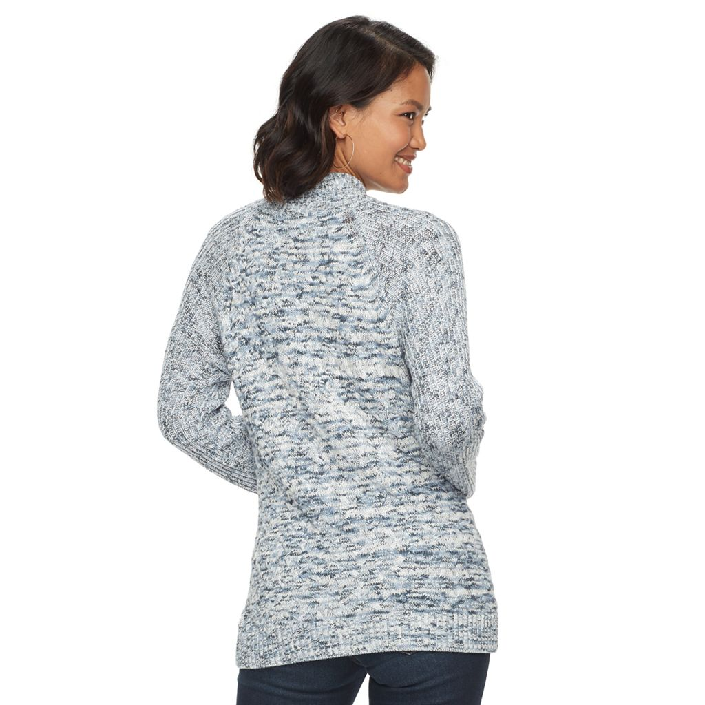 Women's Croft & Barrow® Marled Mockneck Sweater
