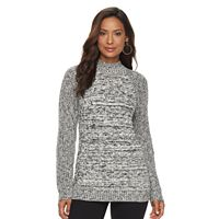 Women's Croft & Barrow® Marled Mockneck Sweater
