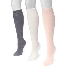 Women's MUK LUKS 3-pk. Fuzzy Knee High Socks