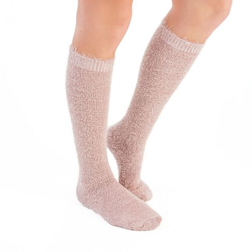 Women's MUK LUKS 3-pk. Raw Cuff Knee-High Socks
