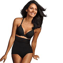 Maidenform Shapewear Firm Foundations Stay Put High-Waisted Shaping Brief DM0040