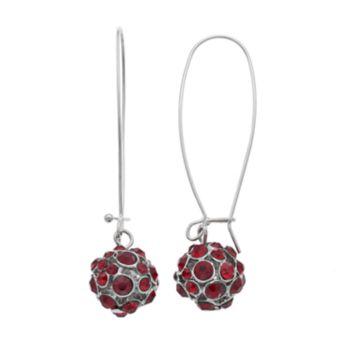 Gray Fireball Drop Earrings