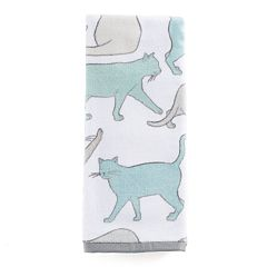 One Home Kitty Cat Print Hand Towel
