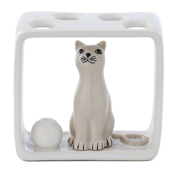 One Home Kitty Cat Toothbrush Holder