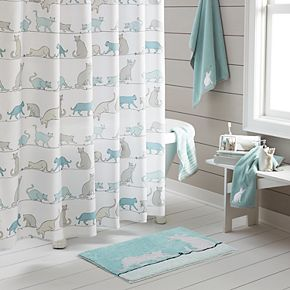 One Home Kitty Cat Print Shower Curtain