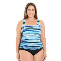 Plus Size Croft & Barrow® Body Sculptor Control Printed One-Piece Swimsuit