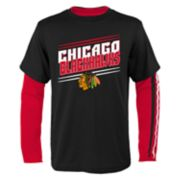 Boys 8-20 Chicago Blackhawks First Line Tee Set