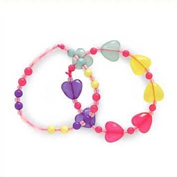 Girls 4-16 Carter's 2-pk. Rainbow Beaded Heart Bracelet Set