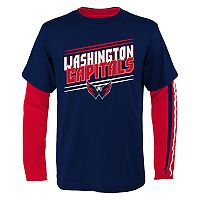 Boys 8-20 Washington Capitals First Line Tee Set