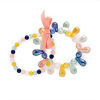 Girls 4-16 Carter's 2-pk. Beaded Teardrop Bracelet Set