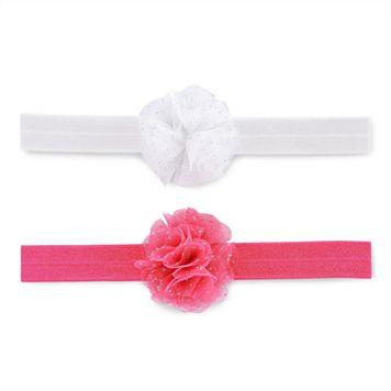 Baby Girl Carter's 2-pk. Floral Rosette Head Wrap Set