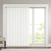 Madison Park Iris Diamond Sheer Patio Window Curtain