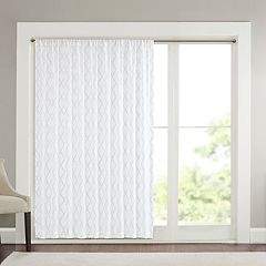 Madison Park 1-Panel Iris Diamond Sheer Patio Window Curtain