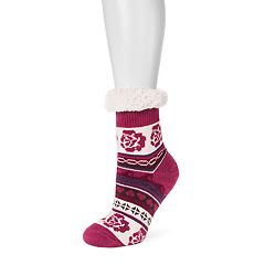 Women's MUK LUKS Fluffy Gripper Socks