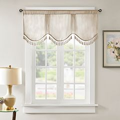 Madison Park Laverne Scallop Embellished Window Valance