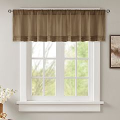 Madison Park Arlene Faux Silk Pleated Window Valance