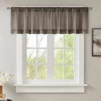 Madison Park Arlene Faux Silk Pleated Window Valance