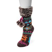 Women's MUK LUK Pom-Pom Gripper Socks