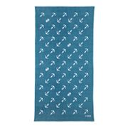 IZOD Diagonal Anchors Beach Towel