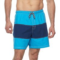 Big & Tall Croft & Barrow® Colorblock Swim Trunks