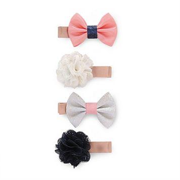 Baby Girl Carter's 4-pk. Rosette & Bow Hair Clip Set