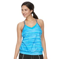 Women's Free Country Bust Enhancer 2-in-1 Tankini Top